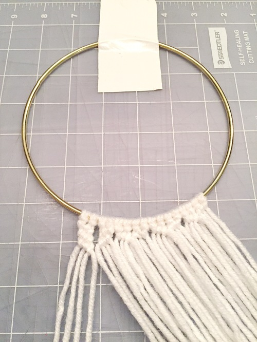 Yarn Amp Gold Hoops A Peace Of Creativity